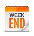 Week End Calendar vector image vector image