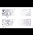 Delicate floral banners vector image
