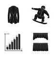 achievements sports and other web icon in black vector image