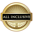 All Inclusive Gold Label vector image