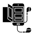 book - audio - smartphone icon vector image
