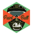 Color vintage paintball emblem vector image