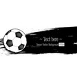 hand drawn grunge banners with soccer ball vector image