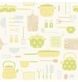 Kitchen utensils pattern vector image