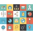 Line icons set of social infographic collection vector image