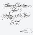 Merry christmas and Happy New Year 2016 Hand-writt vector image