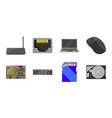 personal computer icons in set collection for vector image