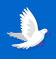 white bird flying vector image