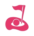 golf hole flag icon vector image