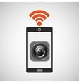 Smartphone music internet wifi icon vector image