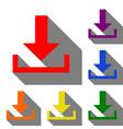 download sign set of red orange vector image