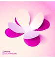 Pink cutout paper plower vector image
