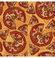 Pizza sketch seamless pattern vector image vector image