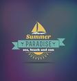Retro summer vintage label on dark background vector image
