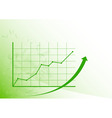 graph up vector image vector image
