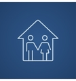Family house line icon vector image vector image
