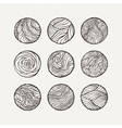 Circles set Pattern vector image