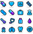 Health care icons set vector image vector image