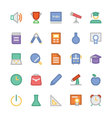 Education Flat Colored Icons 1 vector image