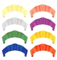 Colorful Paper Scrolls Colored Ribbons vector image