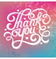 abstract background with the inscription thank you vector image