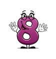 Adorable happy number 8 vector image