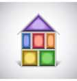 Colorful empty house rooms in cut vector image