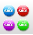 design elements with sale text 3D Abstract labels vector image