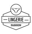 lingerie female logo simple black style vector image