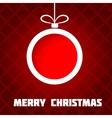 Papercut Christmas ball vector image