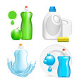 realistic dishwashing liquid product icon vector image