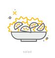 Thin line icons Salad vector image