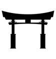 tori gate silhouette vector image