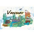 Vancouver doodles vector image