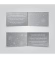 Set Horizontal Grey Banners New Year Christmas vector image