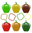 Set of Bell Peppers vector image