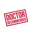 Doctor Recommended rubber stamp vector image