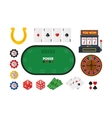 Cartoon Poker Set vector image