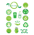 Set of Ecology Icon for Save The World vector image vector image