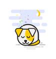Cute terrier running around sleeping vector image