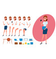 businesswoman character creation set for animation vector image vector image