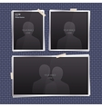 Set of empty photo frames vector image