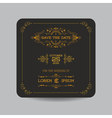 Wedding Invitation Card - Art Deco Vintage Style vector image vector image