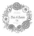 Vintage floral wreath Wedding invitation vector image vector image