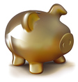 Golden Piggy Bank vector image vector image