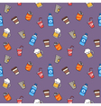 Colorful hand drawn drinks seamless pattern vector image