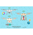 Drone service Drone medical delivery Video and vector image