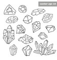 gem set vector image