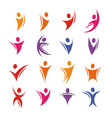 Isolated colorful abstract human body silhouette vector image