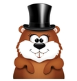 Postcard to Groundhog Day vector image